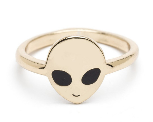 jewels ring gold ring gold alien