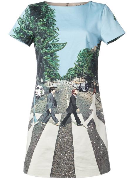 Alice+Olivia dress shirt dress t-shirt dress women spandex cotton