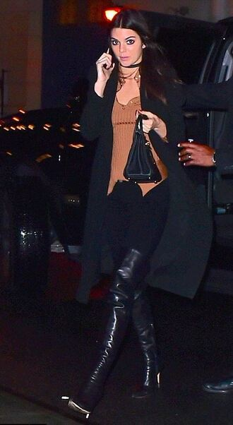 top fall outfits jacket boots kendall jenner jewels jewelry necklace choker necklace black choker