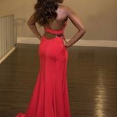 dress,slit,sleeveless,prom dresses short description dress,appliques,open back,high necked