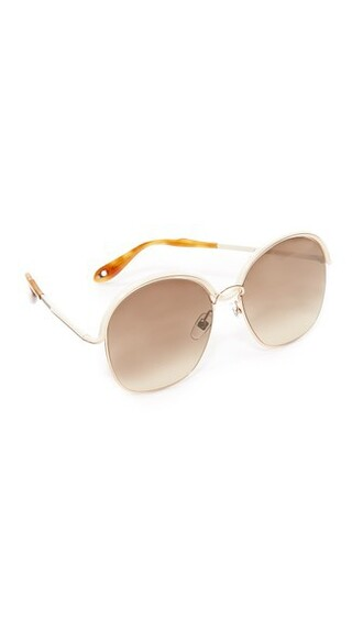 oversized sunglasses round sunglasses gold brown beige
