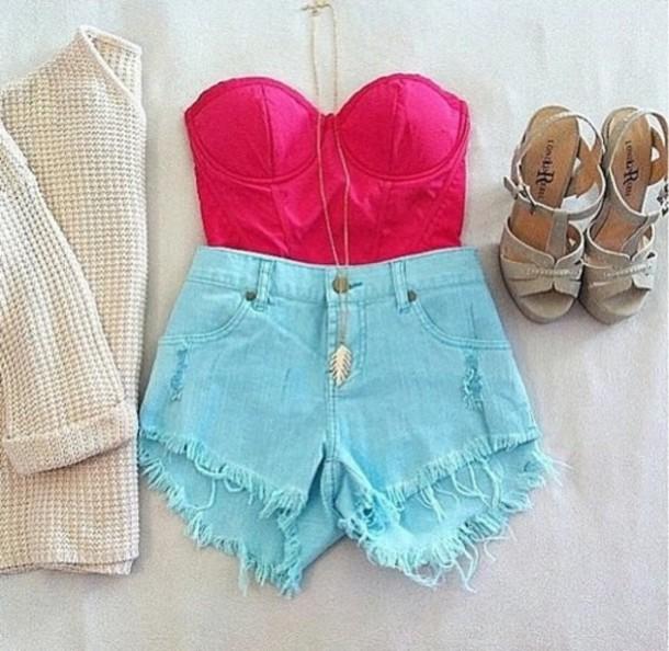 Short Clothes Tumblr Shorts Clothes High Heels High
