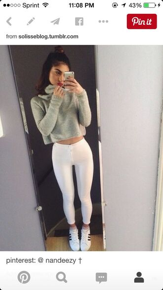 jeans white jeans white leggings white jeggings white pants tights skinny jeans white skinny jeans high waisted jeans sweater shirt top