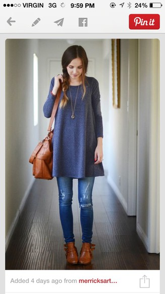 oversized sweater blue sweater longsleeve long sleeves comfy casual cute dress
