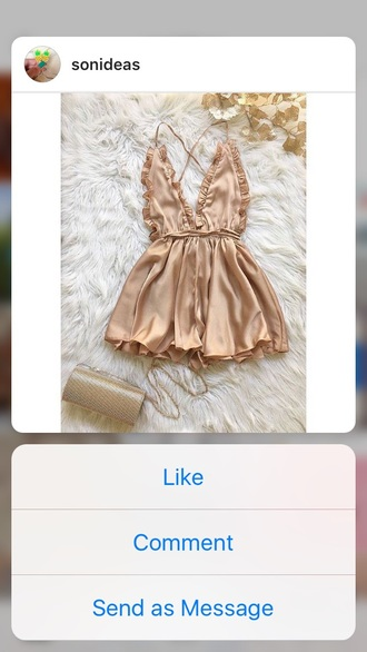 romper gold rose gold silk romper