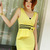 Cheap Vogue Yellowish Sleeveless Bow Decoration Wrap Dress in women dress from women clothing on sightface.com