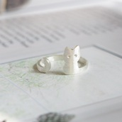 jewels,sisideas,ringring,ring,open ended,unique ring,animal,cats,knuckle ring,sterling silver,silver,cute ring,cat ring,animal ring,gift ideas,trending items