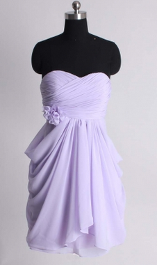 A-line empire waist chiffon dress/bridesmaid dresses