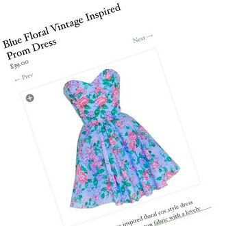 dress style icons closet floral prom dress vintage blue dress