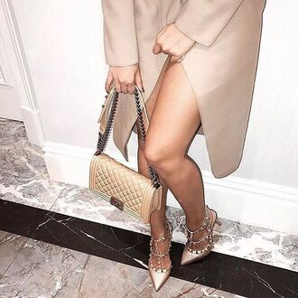 shoes heels studded heels pointed toe pointy toe shoes studded shoes nude heels nude shoes