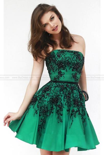 Dress short prom dress green dress green skirt cheap prom dress edit