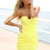 Yellow Strapless Dress - Neon Yellow Strapless Bodycon Mini | UsTrendy