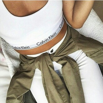 top white top calvin klein drreamtaker post calvin klein sports bra