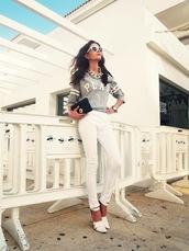 oh my blog,t-shirt,jewels,pants,sunglasses,shoes,bag