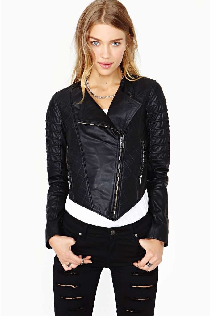 Nasty Gal Quilted Leather Moto Jacket | Shop Jackets   Coats at Nasty Gal