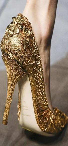 designer high heels heels golden golden heels gold hello gorgeous
