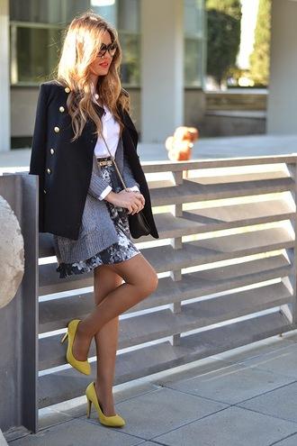 mi aventura con la moda blogger cardigan shoes belt floral skirt stilettos coat skirt shirt streetwear zara