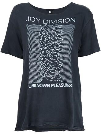 t-shirt shirt print grey top