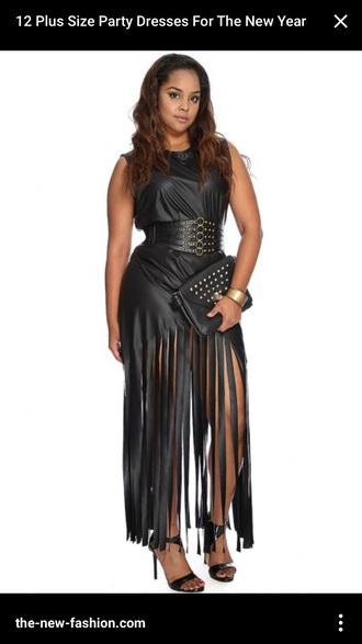 dress party dress plus size dress fringed dress black dress new year's eve