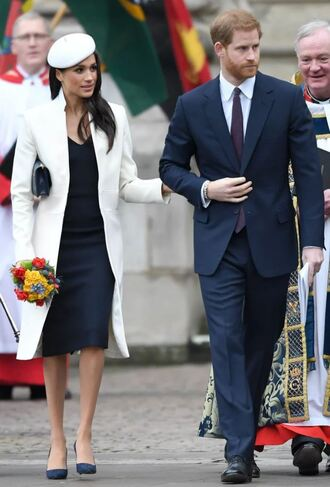dress coat pumps spring outfits hat meghan markle prince harry suit menswear shoes navy navy dress midi dress