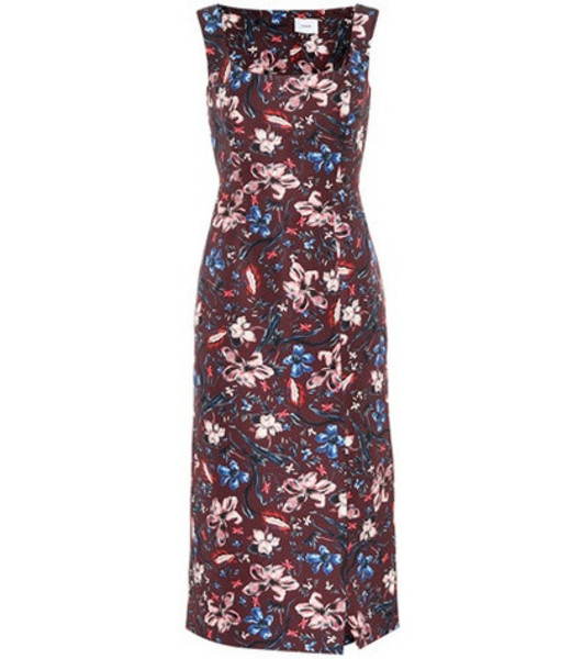 Erdem Arlie floral wool-blend dress in red