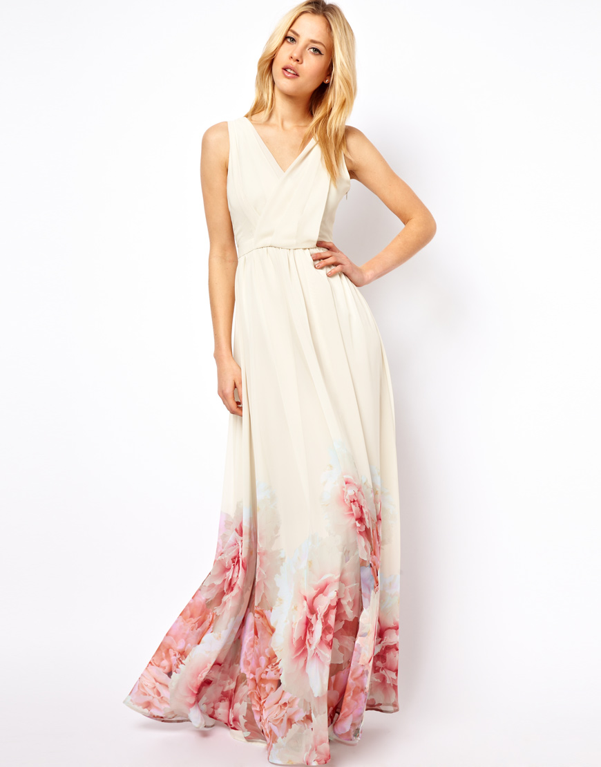8ee7b8943df Mango Floral Hem Maxi Dress at asos.com