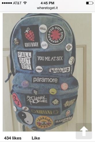 bag grunge hipster rock