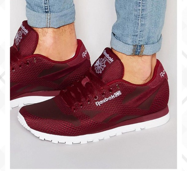 454af76fabf Buy reebok burgundy trainers   OFF71% Discounted