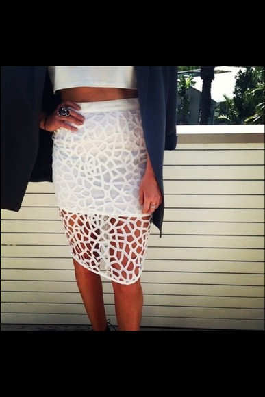 skirt holes pattern right see through classic cut offs