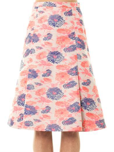 Centaurea floral jacquard skirt | Eudon Choi | MATCHESFASHION.COM