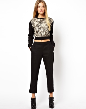 ASOS | ASOS Crop Pants in Linen at ASOS