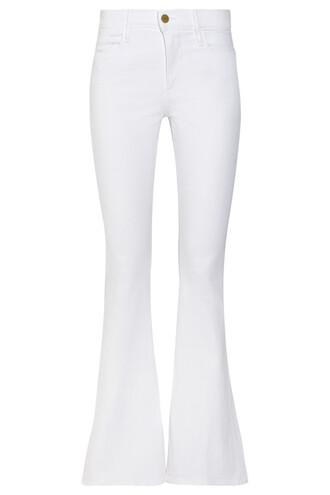 jeans flare high forever white
