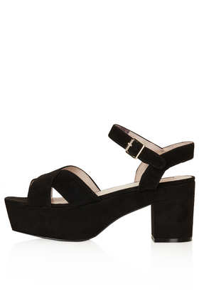 NOVA Suede Platform Sandals - 20% Off Shoes Boots And Bags  - Sale & Offers  - Topshop