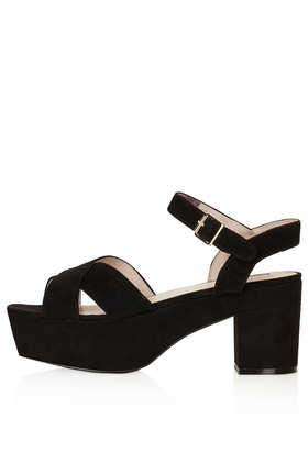 NOVA Suede Platform Sandals - 20% Off Shoes Boots And Bags  - Sale & Offers  - Topshop