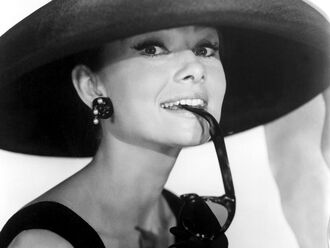 clothes cloths hat black hat audrey hepburn audrey hepburn black hat breakfast at tiffany's