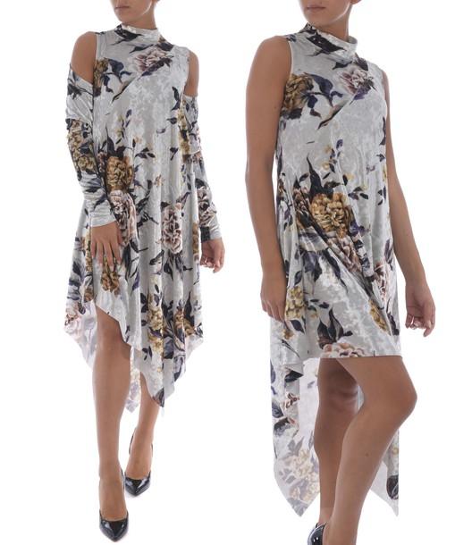 Mm6 Maison Margiela dress shift dress embroidered floral multicolor