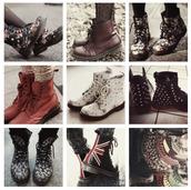 shoes,DrMartens,dr marten boots,union jack,flowers