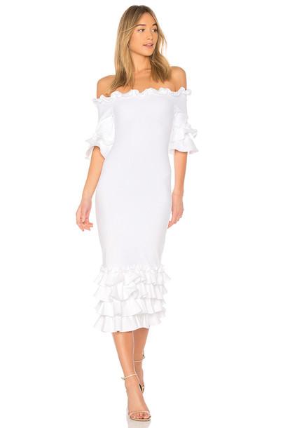 DONNA MIZANI dress midi dress midi white
