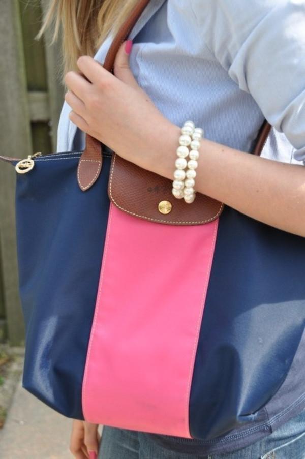 bag blue pink