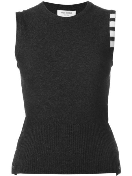 Thom Browne sweatshirt sleeveless women grey sweater