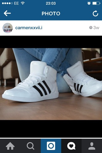 shoes adidas white high tops classics