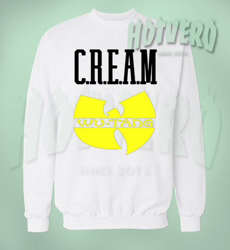 Cream Wu Tang Hip Hop Legend Sweatshirt By Hotvero