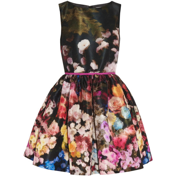 RED Valentino Floral-print taffeta dress - Polyvore