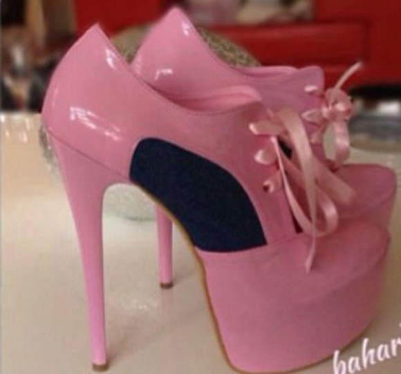 girl style high glamour high heels wheretoget? love pink sweet