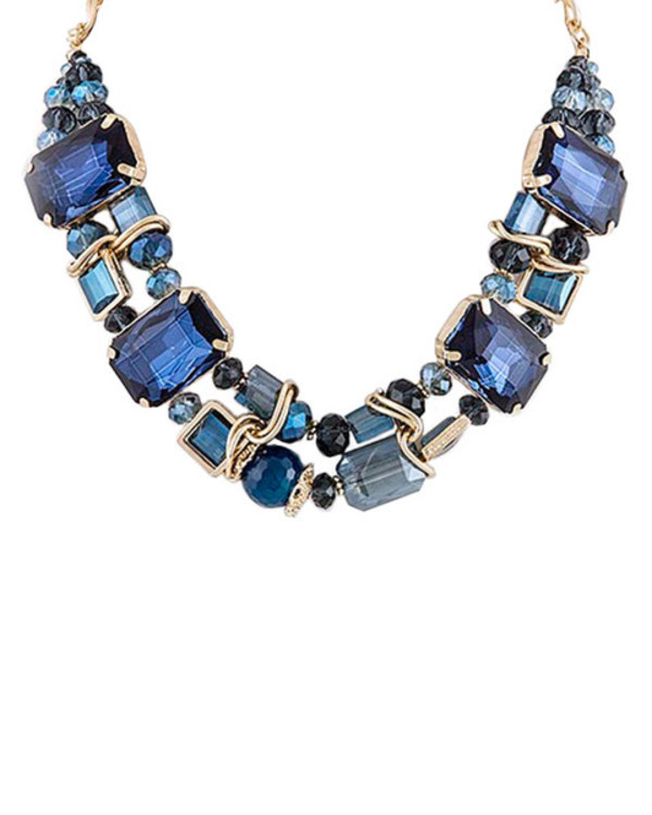 jewels blue rhinestones