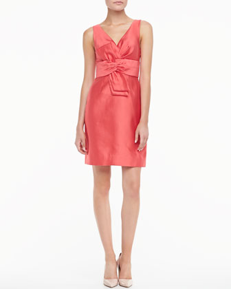 kate spade new york mina sleeveless dress with bow - Neiman Marcus