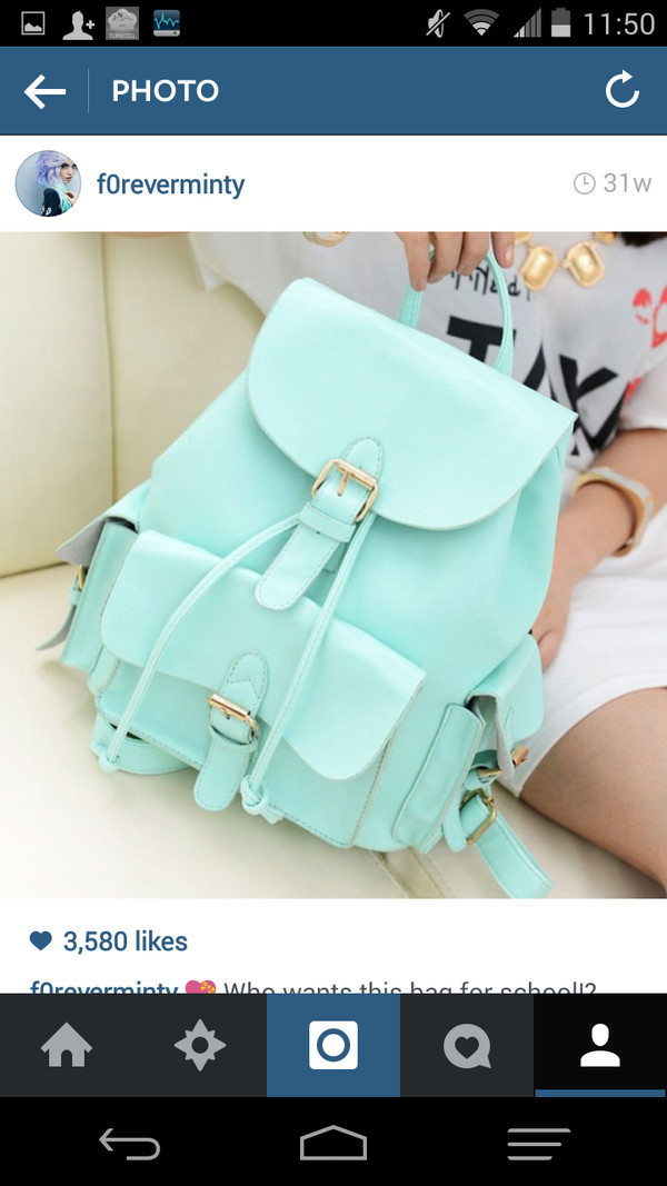 bag backpack mint back to school