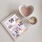 bag,white heart shaped mug,home accessory,heart,dishes,cute,kawaii,kawaii accessory,white