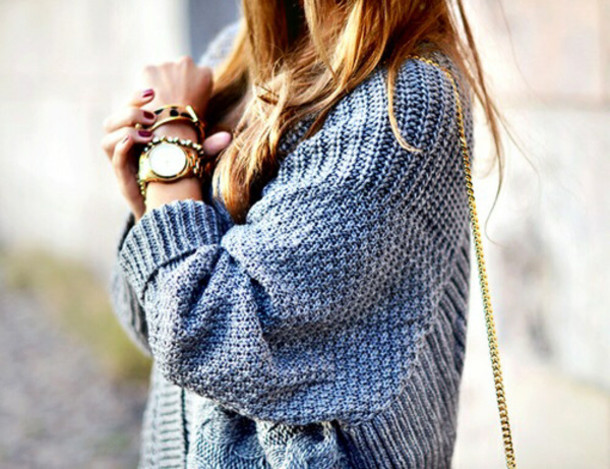 Knitting Patterns For Baggy Sweaters : Sweater: blue sweater, knitted sweater, baggy sweaters - Wheretoget