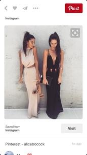 dress,nude,cream color,long